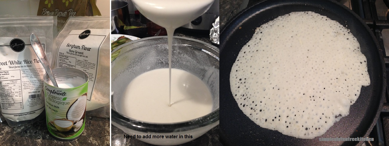 Sorghum, sweet rice flour, coocnut milk