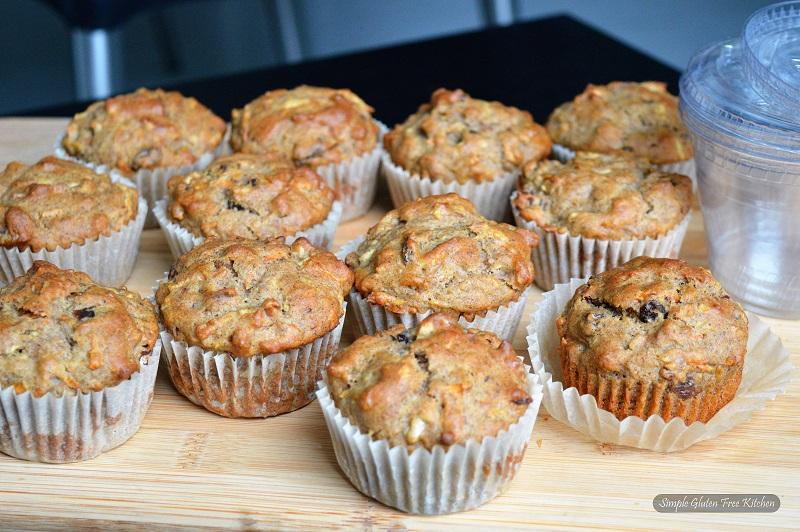 Large buckwheat muffins