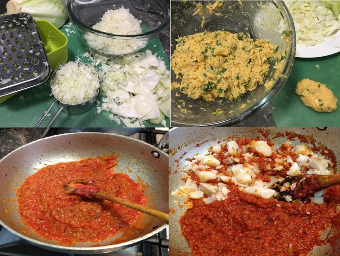 Steps to make cabbage kofta and gravy