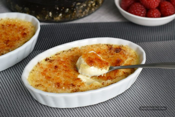 Greek yogurt type creme brulee