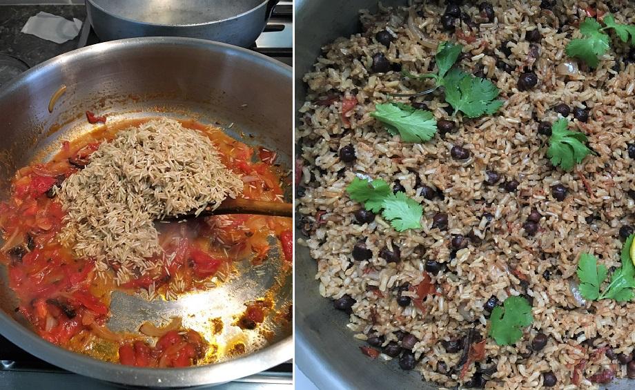 Saute brwon rice
